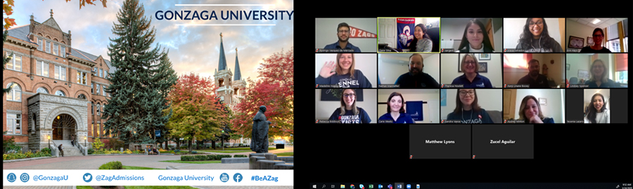 Image of Gonzaga staff on a Zoom meeting